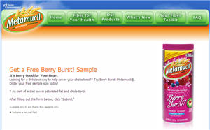 Free Berry BurstMetamucil Sample
