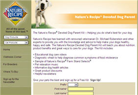 Free Nature's Recipe Devoted Dog Parent Kit