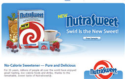 Free NutraSweet® Swirl is Sweet Walmart Sample
