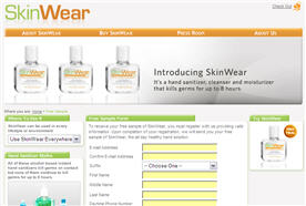 Free Skin Wear Hand Sanitizer Sample
