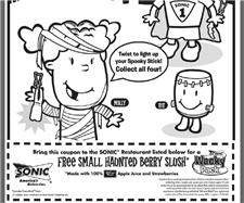 Free Small Haunted Berry Slush Coupon from Sonic Drive In