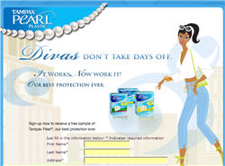 Free Tampax Pearl Sample