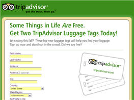 2 Free Luggage Tags from TripAdvisor