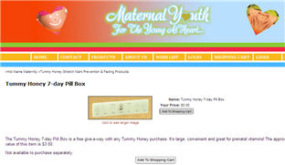 Free Tummy Honey Pill Box
