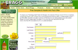 Free Sample of Braggs Apple Cider Vinegar Drink or Liquid Aminos