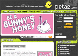 Free Peta Be a Bunny's Honey Stickers