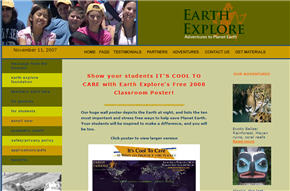 Free Earth Explore's 2008 Classroom Poster