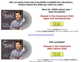 Free John Stossel 2008 DVD - For Educators