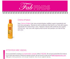 Free Crème of Nature Hair Care Products