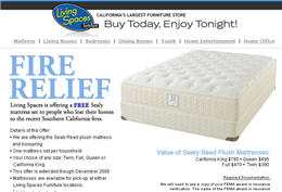 Fire Relief Free Sealy Mattress set