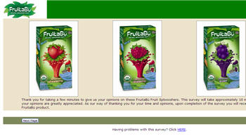 New Fruitabu Coupon with Survey