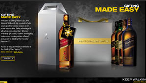 Free Johnny Walker gift tags, labels and boxes