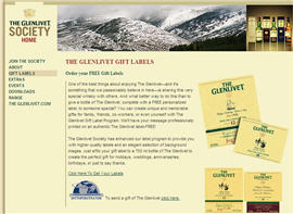 Free Glenlivet Personalized Gift Labels