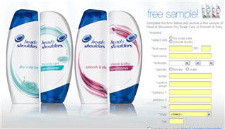 Free Sample of Head & Shoulders Shampoo, Conditioner