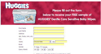 Free Huggies Gentle Care Sensitive Baby Wipes