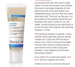 Free 1.5 fl. oz. Sample of Murad Clarifying Cleanser