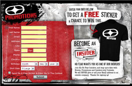 Free No Fear Sticker & Chance to Win a T-Shirt