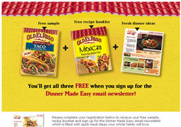 Free Old El Paso Taco Seasoning Sample and Recipe Card