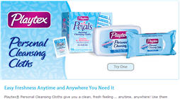 Free Sample of Playtex Personal Cleansing Cloths
