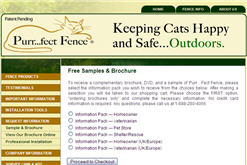 Free Sample from Purrfect Fence