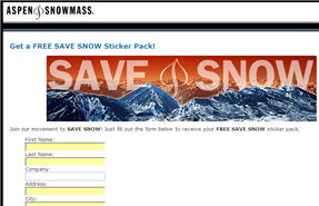Free Aspen SAVE SNOW Sticker Pack