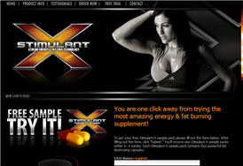 Free Stimulant-X Energy Supplement Sample