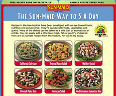 Free Sun-Maid Recipes for Healthier Eating Booklet