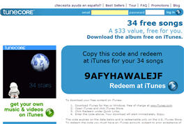 Free 34 Song Tunecore Album on iTunes