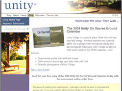 Free 2008 On Sacred Ground Calendar