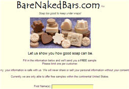 Free Soap Sample from Bare Naked Bars