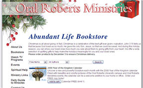 Free Calendar from Oral Roberts Ministries