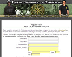 Free Florida Dept of Corrections Posters and Stickers