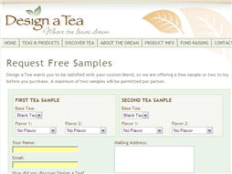 Free Tea Samples from Design a Tea
