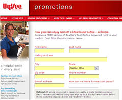 Free Hy-Vee Coffee Sample