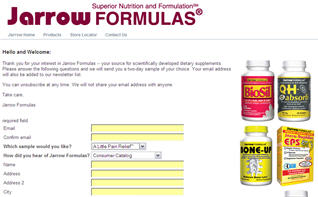 Free Sample from Jarrow Supplements