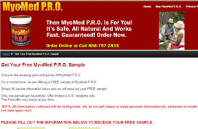 Free Sample of MyoMed Pain Reliever