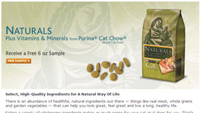 Free Purina Naturals Cat Chow Sample