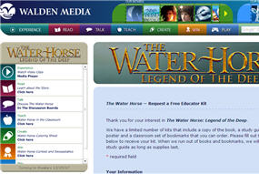 Free The Water Horse Legend of the Deep Educator Kit