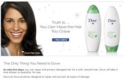 Free Dove Hair Care Walmart Sample