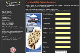 Free Auto Air Freshener from AJ Tuning