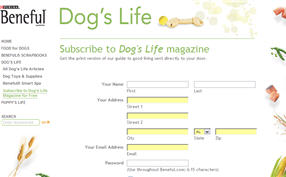 Free Subscription to Dog's Life Magazine