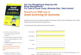 Free Book Email Archiving For Dummies