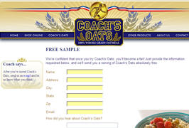 Free Coach's Oats Whole Grain Oatmeal Sample