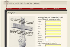 "Free ""Open Heart� Cross"