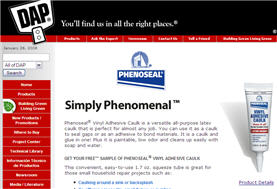 Free Sample Of Phenoseal® Vinyl Adhesive Caulk