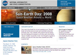 Free 2008 Sun-Earth Day Kit from NASA