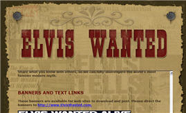 Free Elvis Wanted Poster and Stickers
