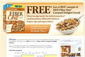 Free Fiber One Cereal Sample