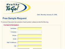 Free Sample Tea from Healthy To Go