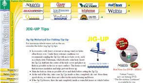 Free JIG-UP Ice Fishing DVD
